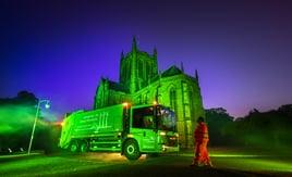 Kırsal hizmet sağlamak için tamamen elektrikli 1 milyon sterlinlik çöp kamyonları